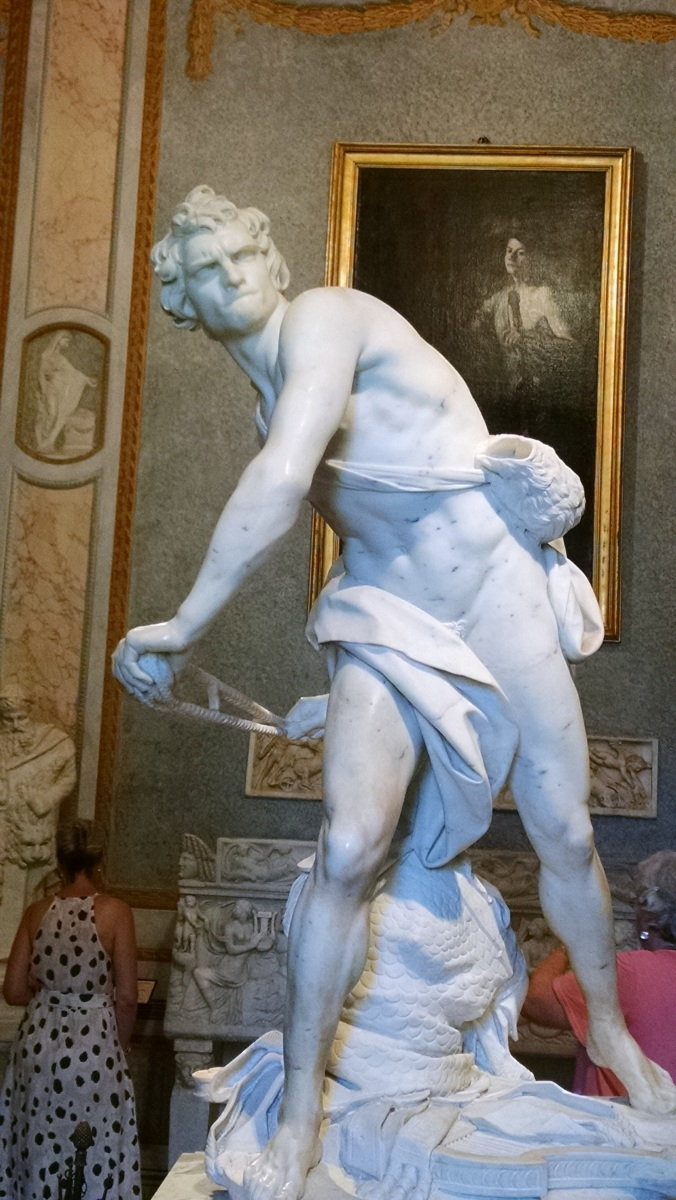 Bernini's David in the Borghese